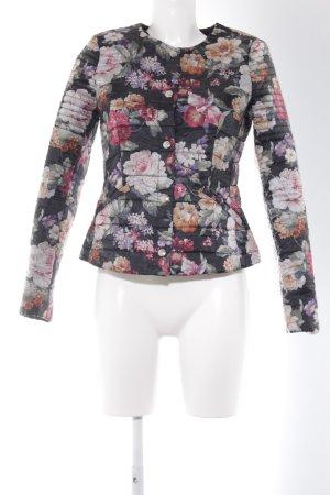 Oui Bomberjacke florales Muster Romantik-Look