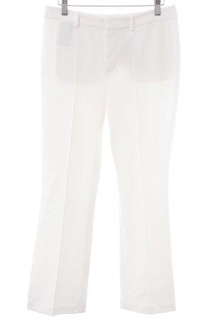 Oui Pantalone a pieghe bianco stile professionale
