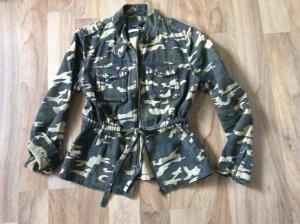 OUI Camouflage Jacke mit Strasssteinen, Grösse 36