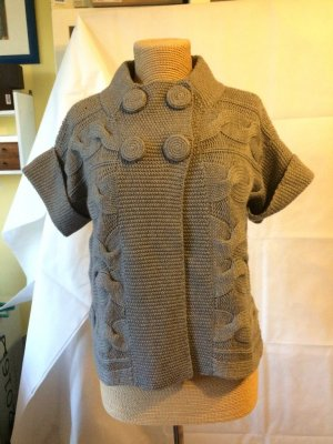 Oui Short Sleeve Knitted Jacket grey