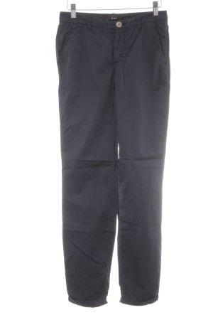 Oui Pantalone chino blu scuro stile casual