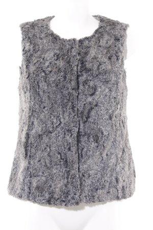 Oui Smanicato di pelliccia grigio chiaro-grigio stile casual
