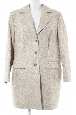 Oui Frock Coat beige-cream floral pattern classic style