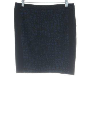 Oui Jupe évasée noir-bleu acier style d'affaires
