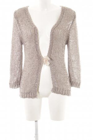 Oui Coarse Knitted Jacket cream cable stitch casual look