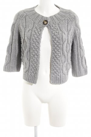 Oui Coarse Knitted Jacket light grey fluffy