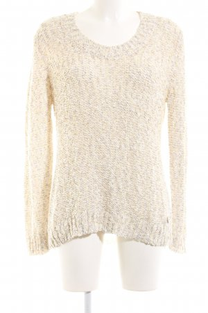 Oui Grobstrickpullover creme meliert Casual-Look