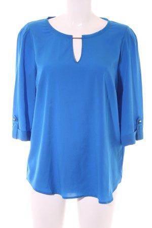 Oui Hemd-Bluse blau Elegant