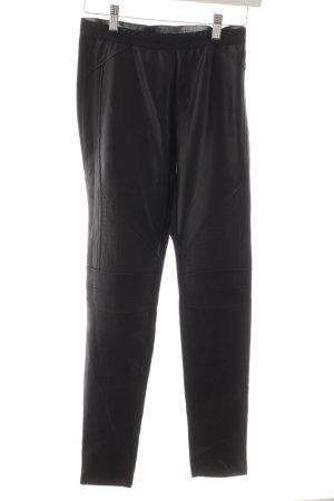 Oui High Waist Trousers black