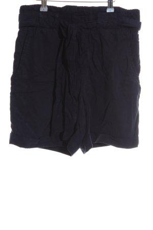 Oui High-Waist-Shorts dunkelblau Elegant