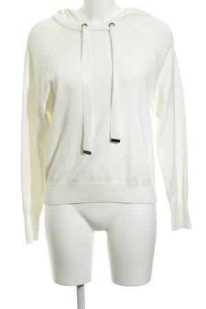 Oui Maglione con cappuccio bianco sporco stile semplice