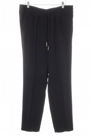 Oui Pantalone peg-top nero stile casual