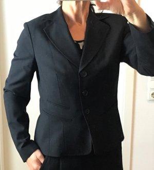 * OUI * KURZ BLAZER WOLLE schwarz geknöpft klassisch business - neuwertig - 38 M