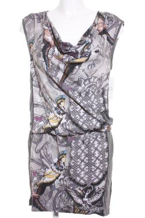 Oui Kurzarmkleid abstraktes Muster Street-Fashion-Look
