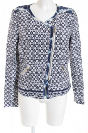 Oui Short Jacket white-blue graphic pattern casual look