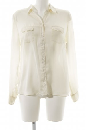 Oui Langarm-Bluse creme Business-Look