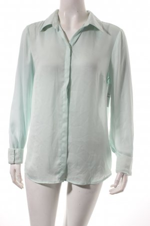 Oui Langarm-Bluse mint schlichter Stil