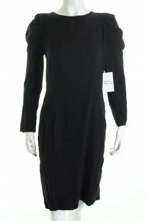 Oui Langarmkleid schwarz klassischer Stil