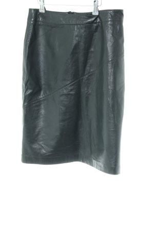 Oui Leather Skirt black elegant