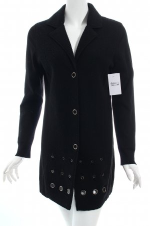Oui Long-Blazer schwarz Casual-Look