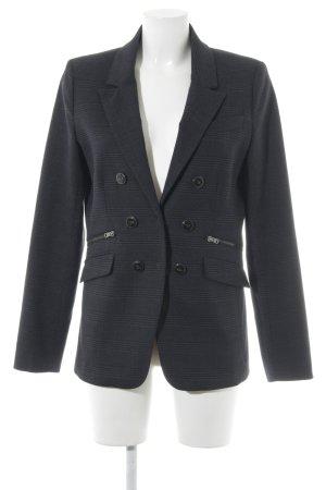 Oui Long-Blazer schwarz-grau Karomuster Brit-Look