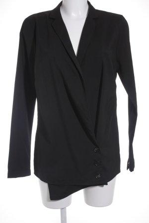 Oui Long-Blazer schwarz klassischer Stil