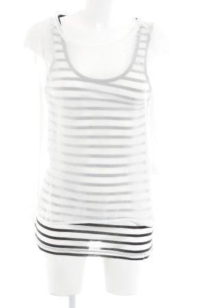 Oui Longsleeve weiß-schwarz Streifenmuster Elegant