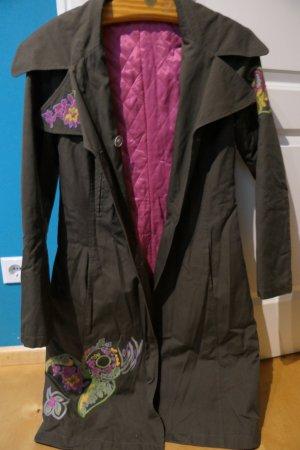 OUI - Mantel mit Stickereien Trench-Coat-Look