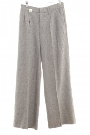 Oui Marlene Trousers grey brown check pattern business style