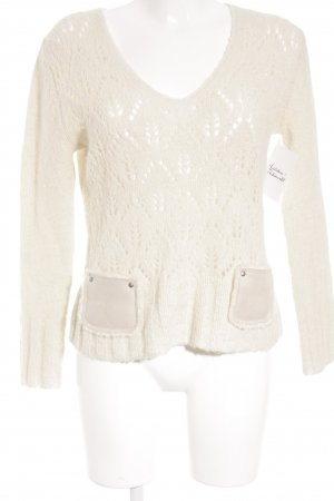 oui Moments Grobstrickpullover wollweiß Casual-Look
