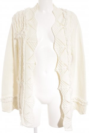 oui Moments Crochet Cardigan natural white loosely knitted pattern fluffy