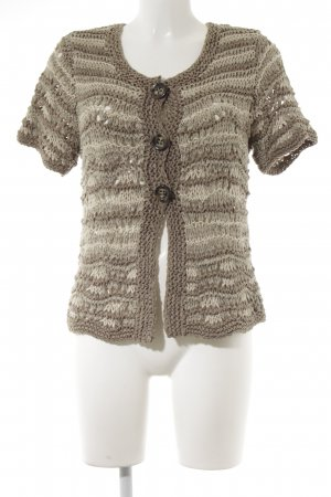 oui Moments Short Sleeve Knitted Jacket striped pattern