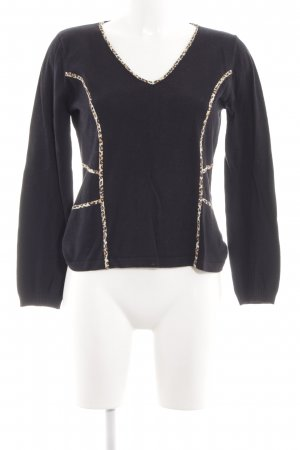 oui Moments Wollpullover Leomuster Casual-Look