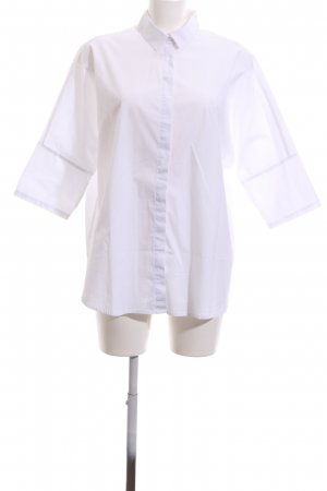 Oui Oversized Bluse weiß Casual-Look