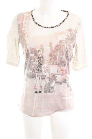 Oui Print-Shirt nude Animalmuster Casual-Look