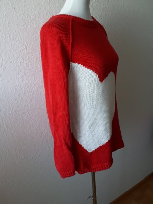 Oui Pullover 40 rot