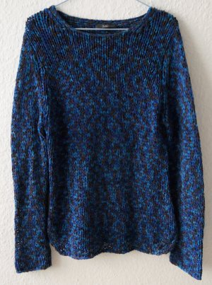 Oui Pullover Colourblock grobmaschig Oversize XS S 36 38