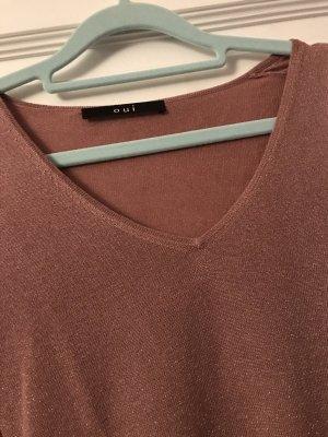 Oui V-Neck Sweater pink-dusky pink