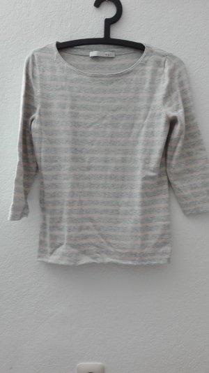 Oui Pullover T-Shirt grau rosa XS 34 gestreift Sweatshirt