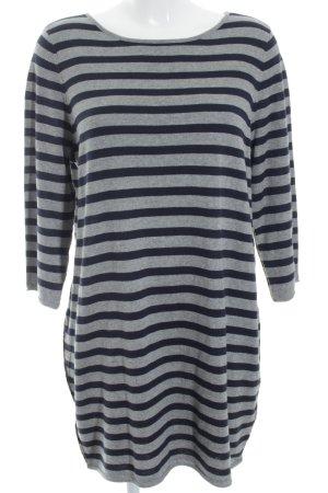 Oui Sweater Dress grey-dark blue horizontal stripes casual look