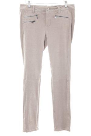 Oui Drainpipe Trousers beige casual look