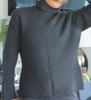 OUI Rollkragen Pullover Gr.XL Anthrazit Grau 40-42 Rolli Wolle