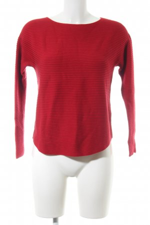 Oui Rundhalspullover rot Casual-Look