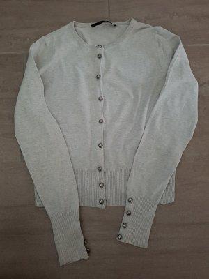 Oui Cardigan grigio chiaro-grigio