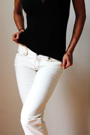 Oui Five-Pocket Trousers white cotton