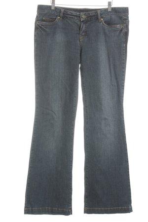 Oui Set Jeansschlaghose blassblau