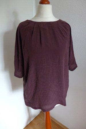 Oui Set Oberteil Shirt Bluse burgund bordeaux dunkelrot Gr. 36 Seide neu