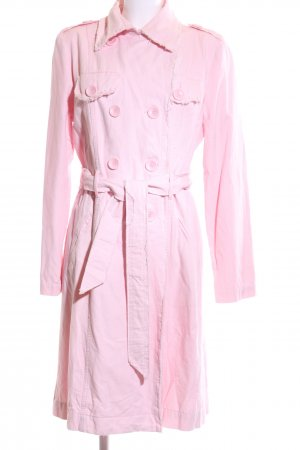 Oui Set Trenchcoat pink Business-Look