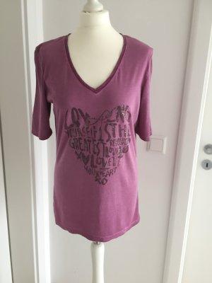 Oui Shirt  T-Shirt Gr.40 beerenfarben letzte Reduzierung ab 27.6. Urlaub !!!