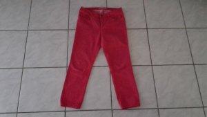 Oui Pantalone a 7/8 rosso chiaro Cotone
